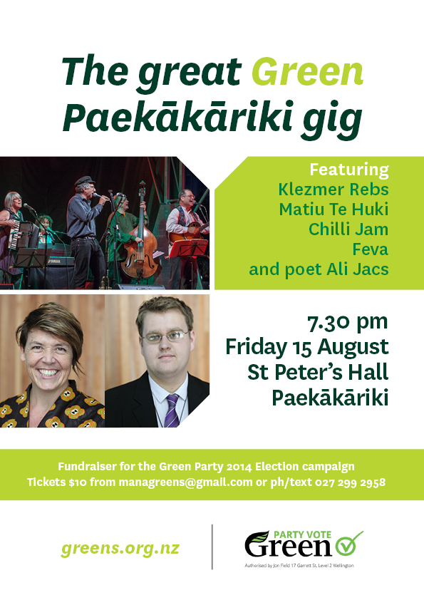 Greens paekakariki gig poster revised